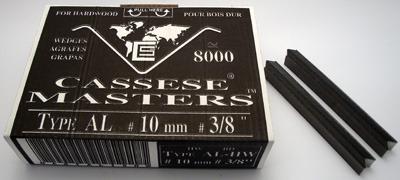 S12 - Klamry AL 10mm  do twardego drewna firmy Cassese