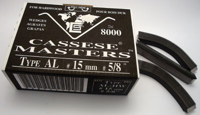 S141 - 1 pasek - Klamry AL 15mm  do twardego drewna firmy Cassese