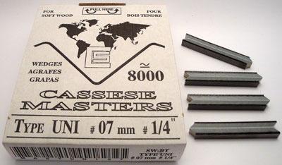 S15 - Klamry UNI 7mm  do miękkiego drewna firmy Cassese